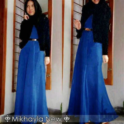 Maxi Brukat Pashmina capria outlet sold out thanks mikhayla maxi blue blazer