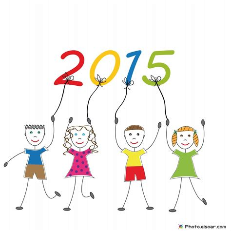 wallpaper new year cartoon happy new year 2015 with cute cartoon kids wallpaper