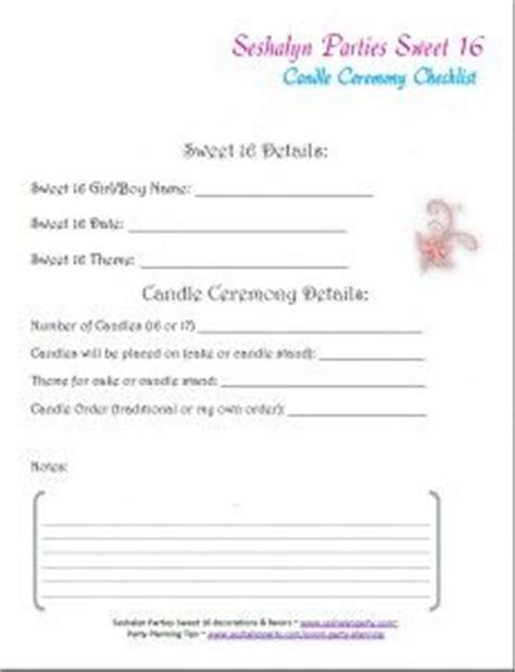 Lighting Of The L Ceremony Speech by Sweet Sixteen Candle Lighting Ceremony Order Of Candles Seshalyn S Ideas
