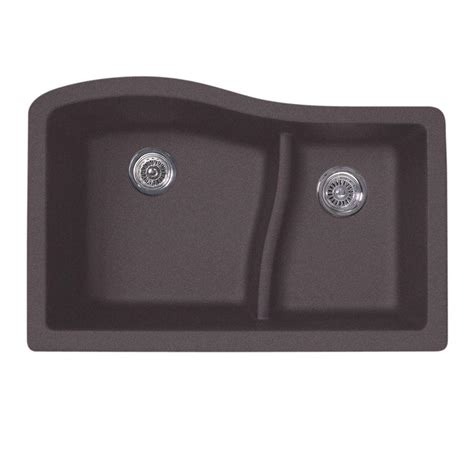 home depot kitchen ls swan undermount granite 32 in 0 hole double bowl kitchen