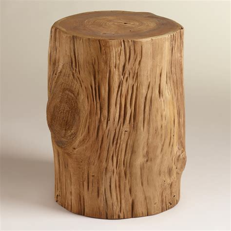 Stump Side Table Teak Tree Stump Table World Market