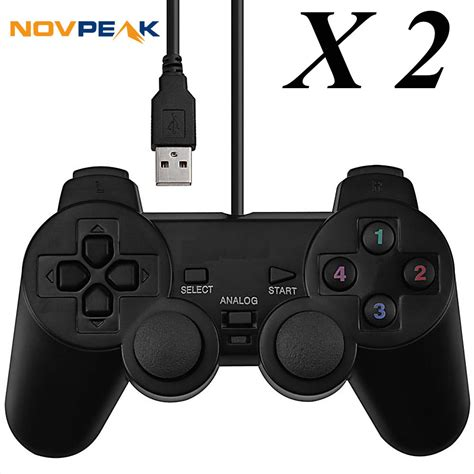 Joystik Usb Hitam Dual Shock Controler aliexpress buy 2 pcs universal wired usb pc gamepad dual joystickz controller pad w