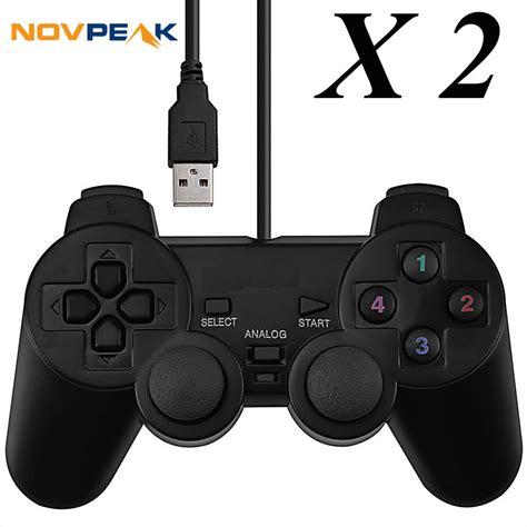 Promo Brand Gamepad Pc Dual Shock Controller aliexpress buy 2 pcs universal wired usb pc gamepad dual joystickz controller pad w