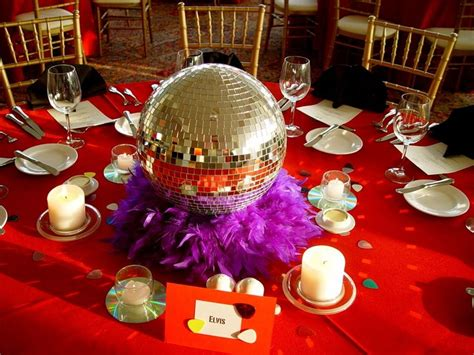 70s theme decorations ideas these disco inspired centerpieces are for any
