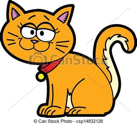 clipart gatto ilustraciones de vectores de caricatura gato orange