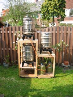 Brew Kettle Make Your Own Wine - 3 tier homebrew system with brewing stand is