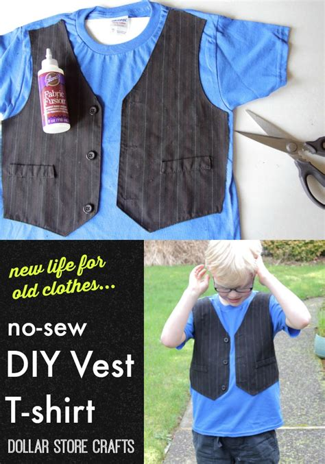 How To Make A T Shirt Out Of Paper - no sew vest t shirt a craft in your day