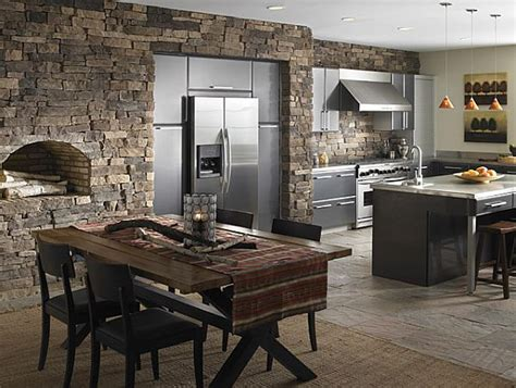 medieval kitchen design create a rustic kitchen design with the help of stone veneers