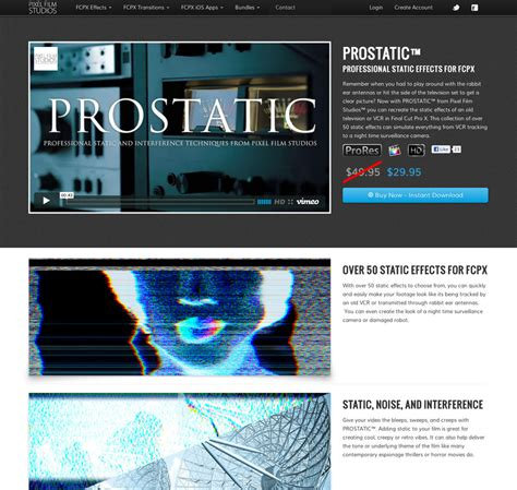 final cut pro plugins prostatic static effects for final cut pro x released by