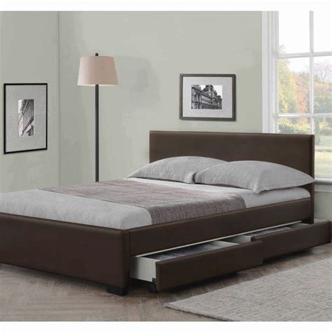 double bed mattress size 4 drawers leather storage bed double or king size beds