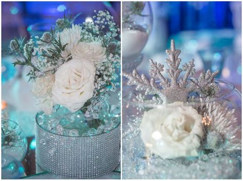winter themed wedding centerpieces frozen festivities winter themed quincea 241 era