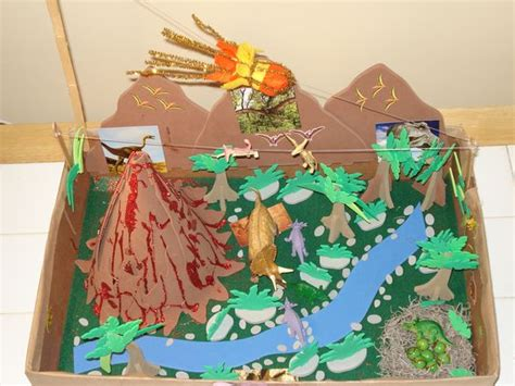printable forest diorama dinosaur diorama school projects pinterest dinosaurs