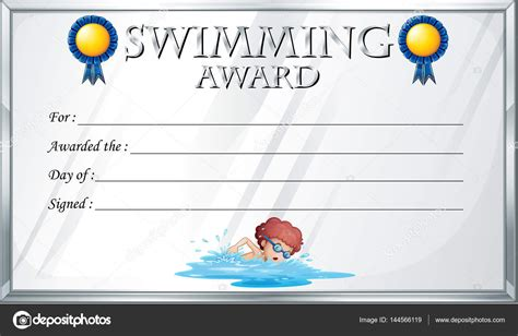 swimming certificate templates free best high quality