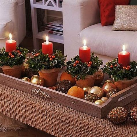 classic rattan coffee table at living room with christmas