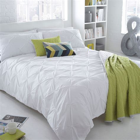 white ruched bedding ben de lisi home white ruched brooklyn bedding set from debenhams