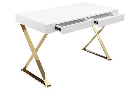 white x leg desk x leg desk white gold desks office furniture one