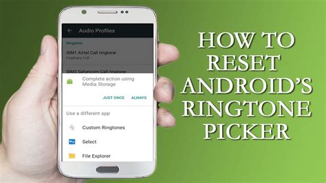 reset android notifications how to reset android s ringtone notification sound picker
