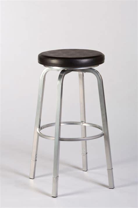 neeman backless counter bar stool silver black finish