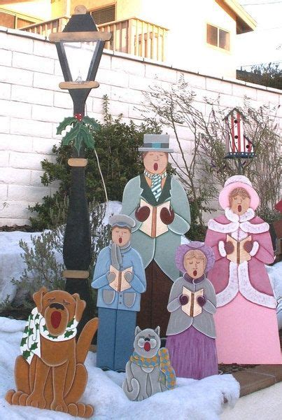 life size christmas carolers displays caroling family size by destinyscustomdesign 299 00