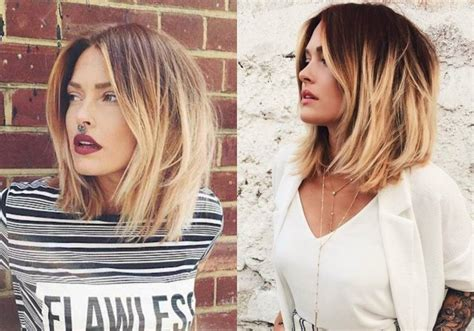 hairstyles with ombre highlights enchanting ombre lob hairstyles hairdrome com