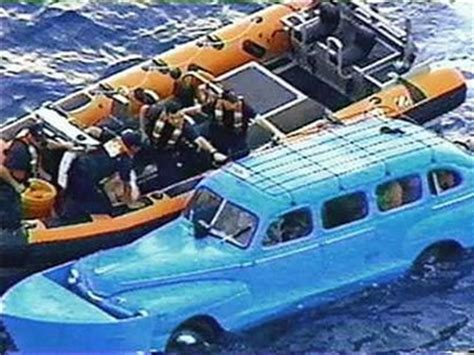 boat made into car cubans flee communism with american cars converted into