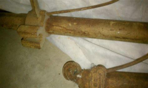 antique bed rails antique iron bed rails wheels