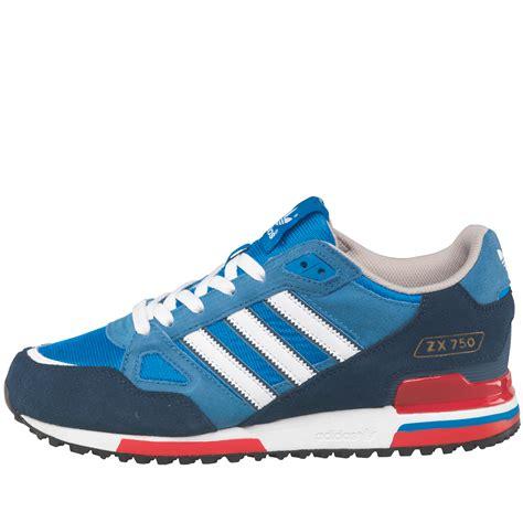 buy adidas originals mens zx 750 trainers bluebird white slate
