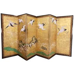 Paper Screen - japanese six panel paper screen for sale at 1stdibs