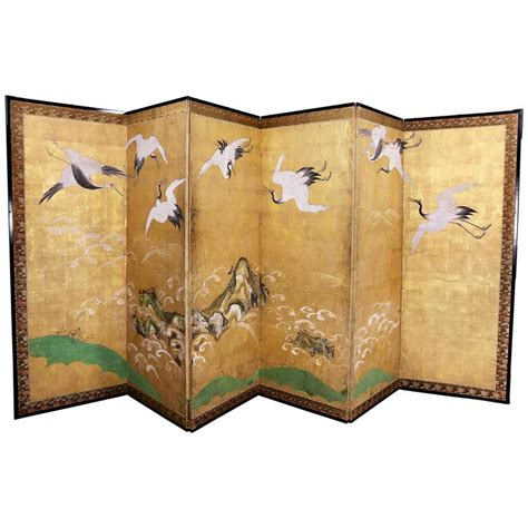 Paper Screens - japanese six panel paper screen for sale at 1stdibs