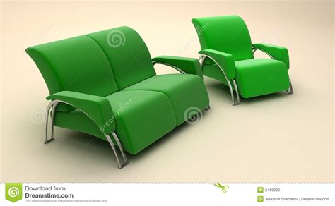 green sofa chair green sofa and chair royalty free stock images image