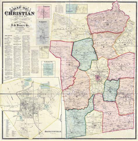 kentucky map hopkinsville 1878 map of christian county kentucky hopkinsville large