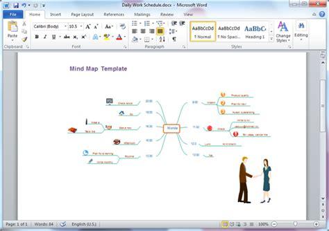 Word Vorlage Mindmap mind map templates for word