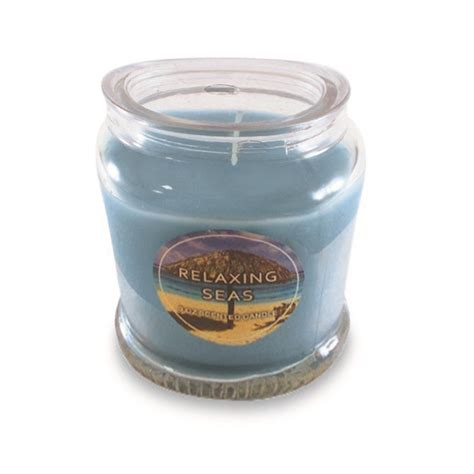 Scented Candles To Relax To by Relaxing Seas Scented Candle Blue