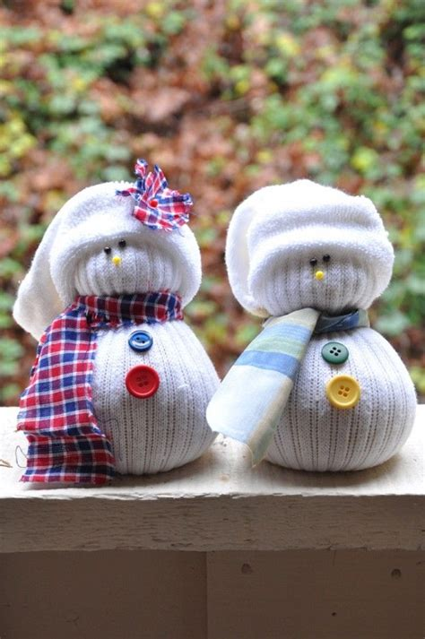 how to make sock snowman craft these snowmen from socks festive