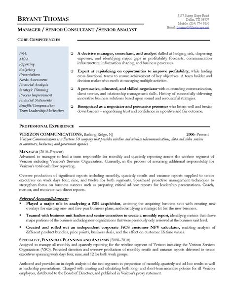 Finance Resume Format by Resume Sles Program Finance Manager Fp A Devops Sle