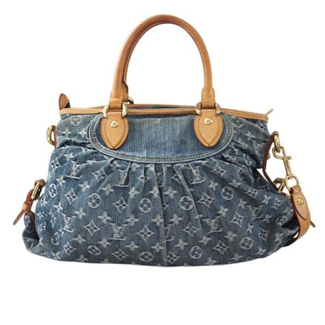Louis Vuitton Dust Bag louis vuitton denim neo cabby mm handbag in dust bag at 1stdibs