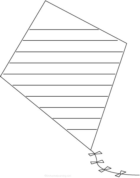 printable kites templates best photos of kite shape template printable kite
