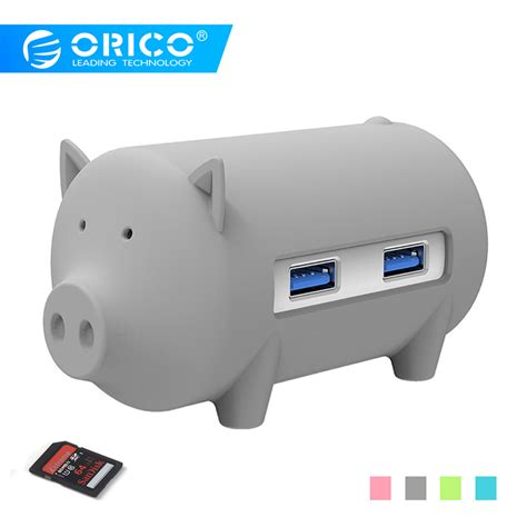 Card Reader With Usb3 0 Hub orico usb3 0 hub litte pig hub 3 ports with tf sd card