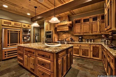 mountain home kitchen design mountain style home decorated in rustic style