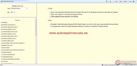 service manual old car owners manuals 2011 mitsubishi lancer evolution instrument cluster auto repair manuals mitsubishi pajero 2011 workshop manual