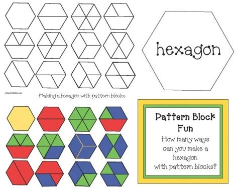 name of pattern block shapes freebie challenge students to figure out how many