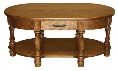Oval Oak Coffee Table Amish Coffee Table Oval Traditional Solid Wood Twisted Leg Oak Brown Maple New Ebay