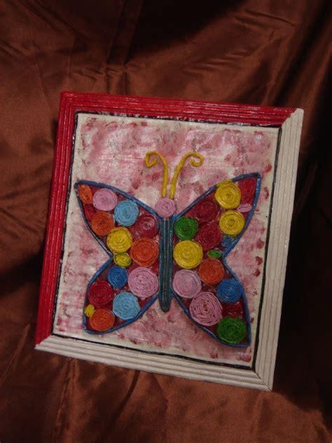 Lu Bentuk Kupu Kupu Bekas pigura dan kreasi kupu kupu dari kertas koran kreasi kertas koran bekas