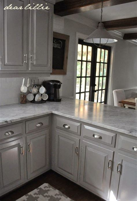 dear lillie darker gray cabinets   marble review