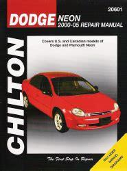 2000 2005 dodge neon chilton s total car care manual