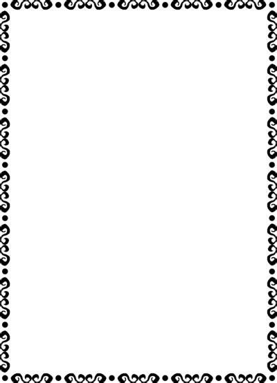 frame border black and white clip art library