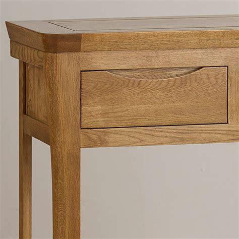 solid oak sofa table orrick console table in rustic solid oak oak furniture land