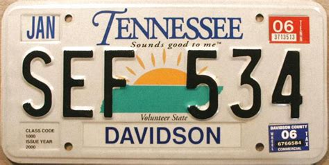Tennessee Vanity Plates by Tennessee Y2k