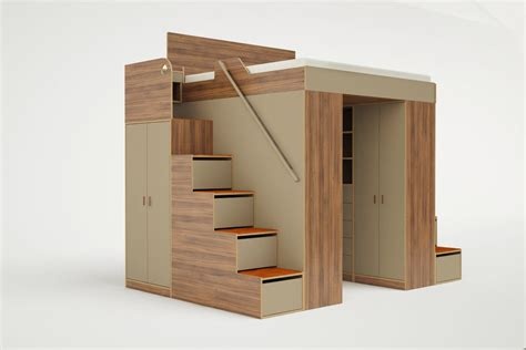 king size loft bed with desk clever bed designs with integrated storage for max efficiency