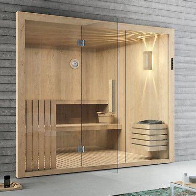 terrasse ideen 5198 elementsauna tanne mit glasfront 246 x 192 cm sauna mit
